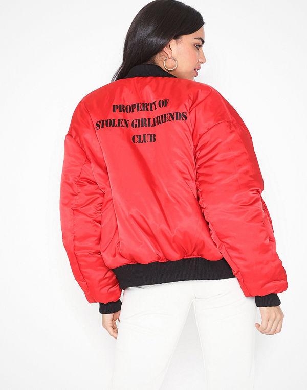 Stolen Girlfriends Club röd bomberjacka Stolen Bomber Jacket