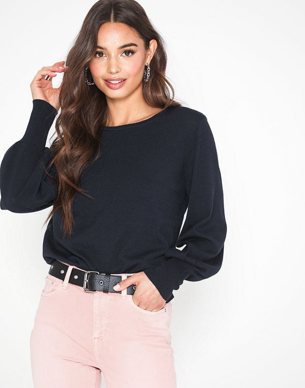 Selected Femme Slfbonni Ls Knit O-Neck B