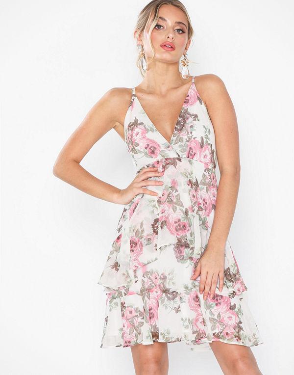 NLY Eve Flounce Bottom Frill Dress Blommig
