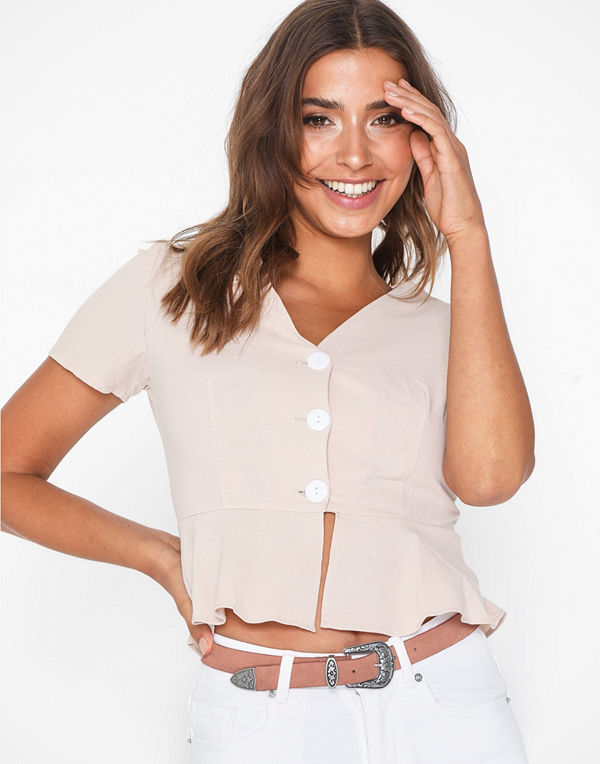 Vero Moda Vmpernille Suede Slim Jeans Belt Ljus Rosa