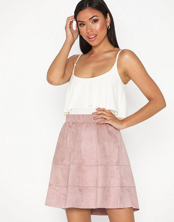 Only Onlcarma Faux Suede Skirt Otw Noos