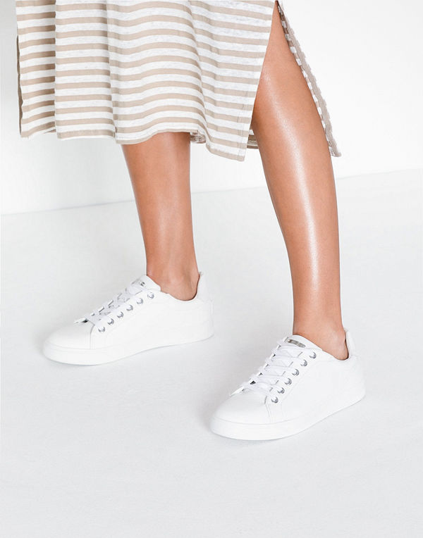 Topshop White Lace Up Trainers