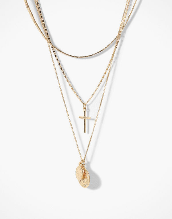 Freedom by Topshop halsband Coin & Cross Multirow