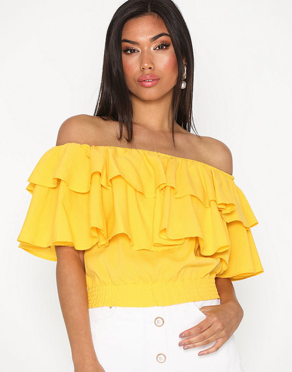 Only Onlsaturn Cropped Top Wvn