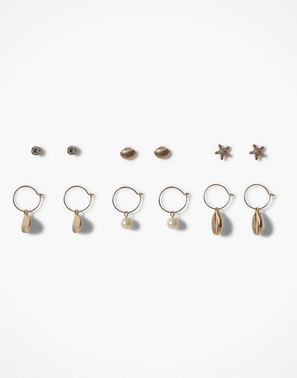 Missguided Jewelry örhängen Shell Multipack Earring
