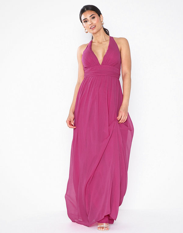 NLY Eve Empire Cross Back Dress Fuchsia