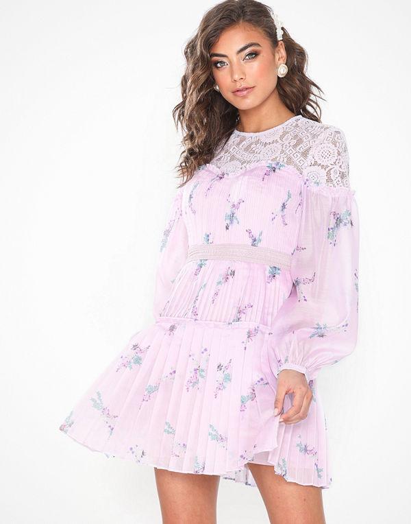 True Decadence Long Sleeve Mini Flower Dress