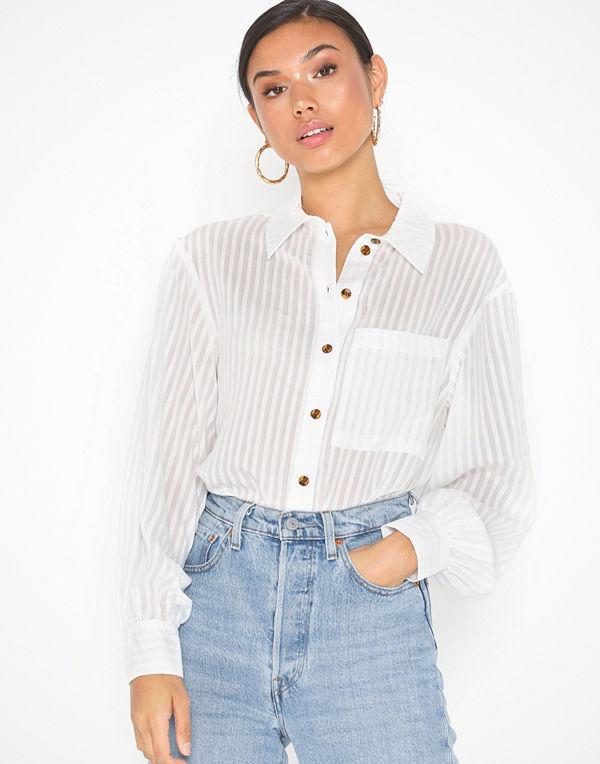 Topshop Stripe Oversized Shirt