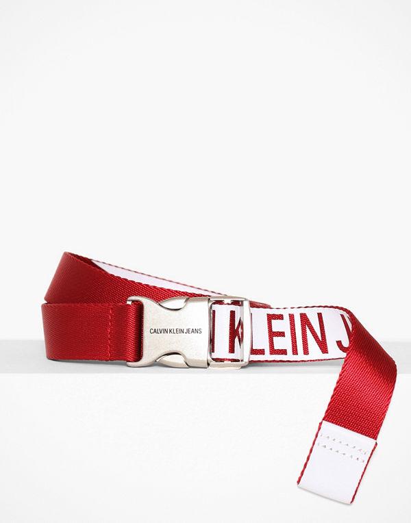 Calvin Klein J 3CM Canvas Plaque Belt