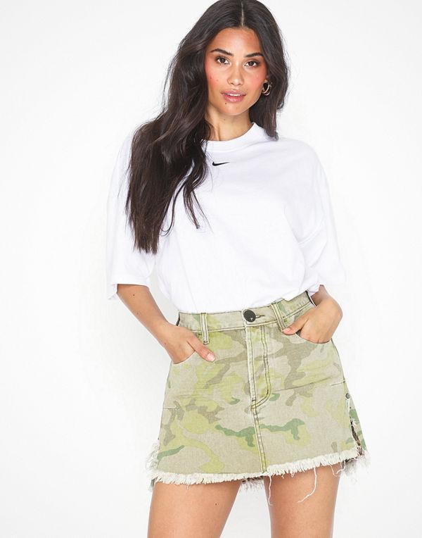 One Teaspoon Safari Camo Relaxed Denim Skirt