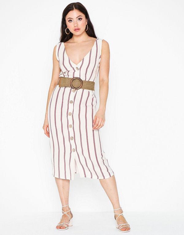 River Island Linen Waisted Dress