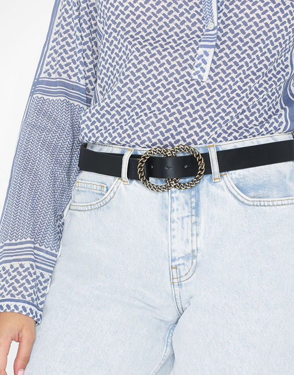 Missguided Twisted Double Ring Buckle Belt