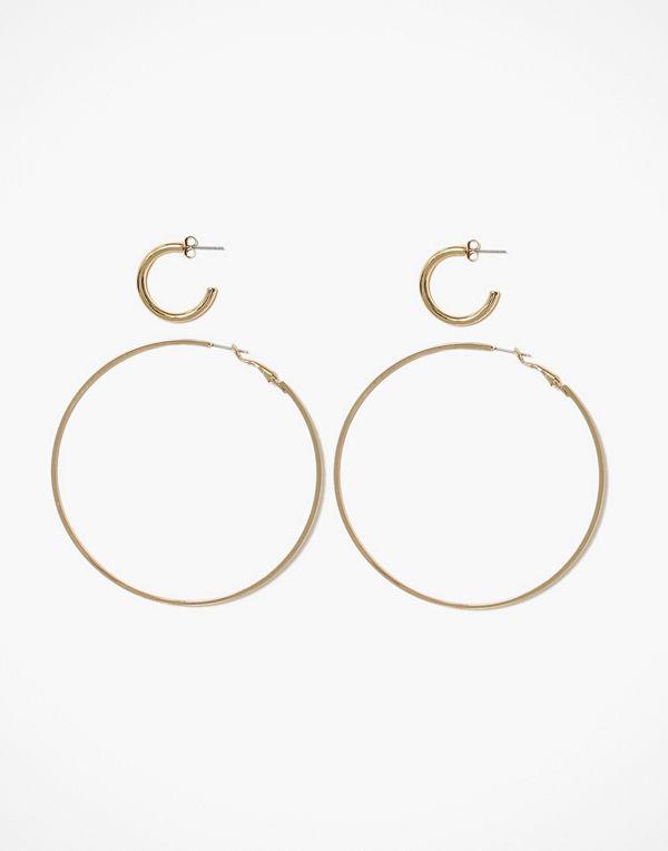 Pieces örhängen Pcemani Hoop Earrings 2-Pack