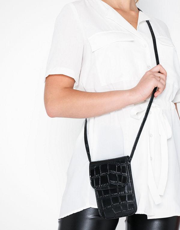 NLY Accessories svart mönstrad axelväska Keep It Close Bag Svart
