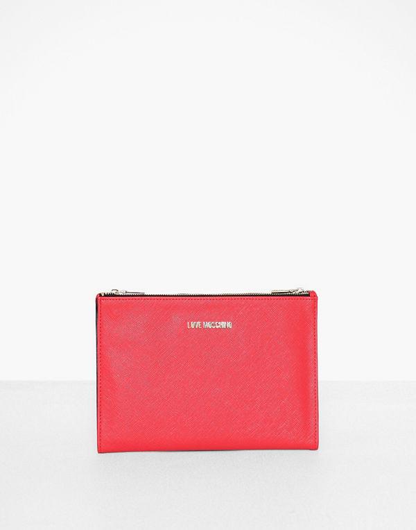 Love Moschino röd kuvertväska JC5394PP18LQ0