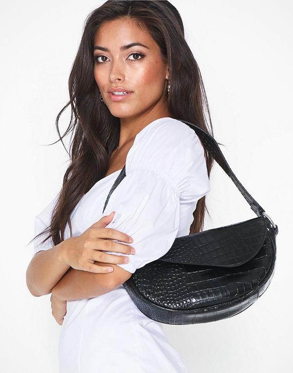 NLY Accessories svart mönstrad axelväska Shape Of You Bag