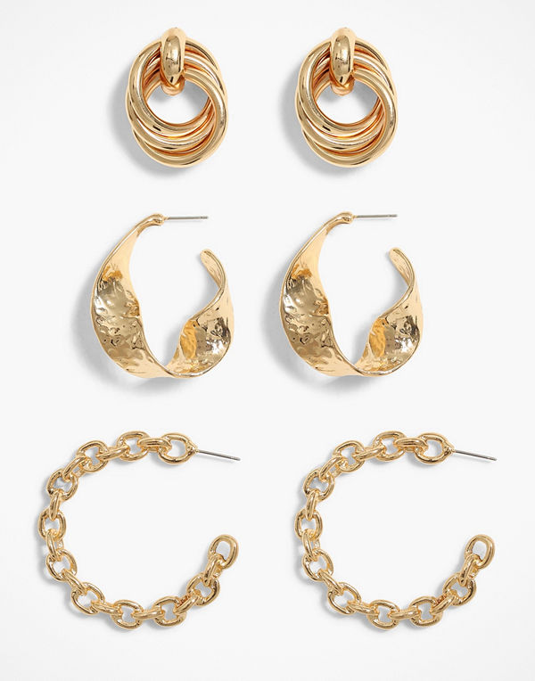 NLY Accessories svart smycke Ultimate Chunky Hoops