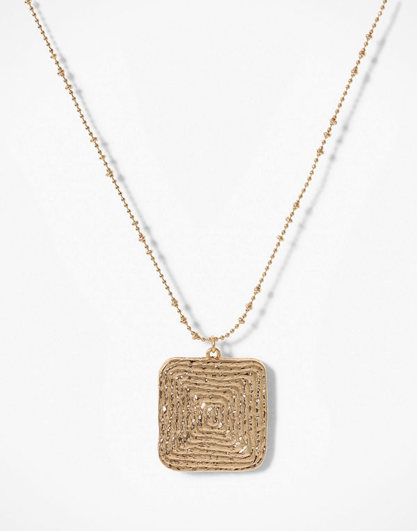Missguided Jewelry halsband Textured Gold Pen