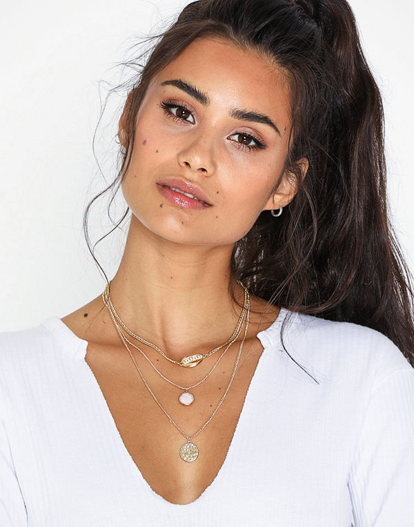 Missguided Jewelry halsband Beaten Metal Shell Multirow