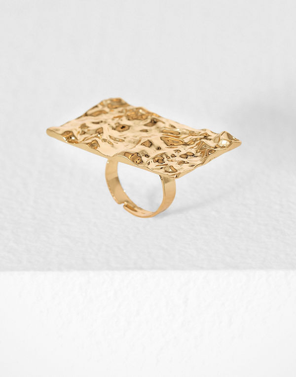 NLY Accessories Hammered Gold Ring