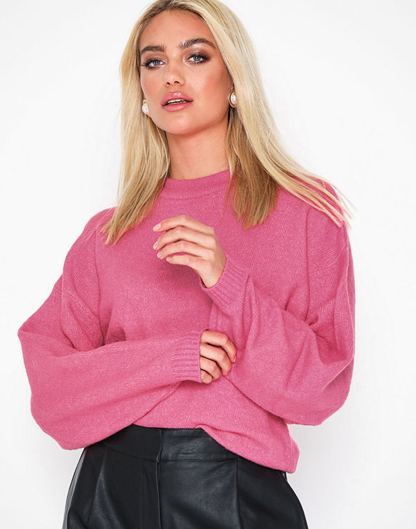 NLY Trend Sleeve Focus Knit Cerise