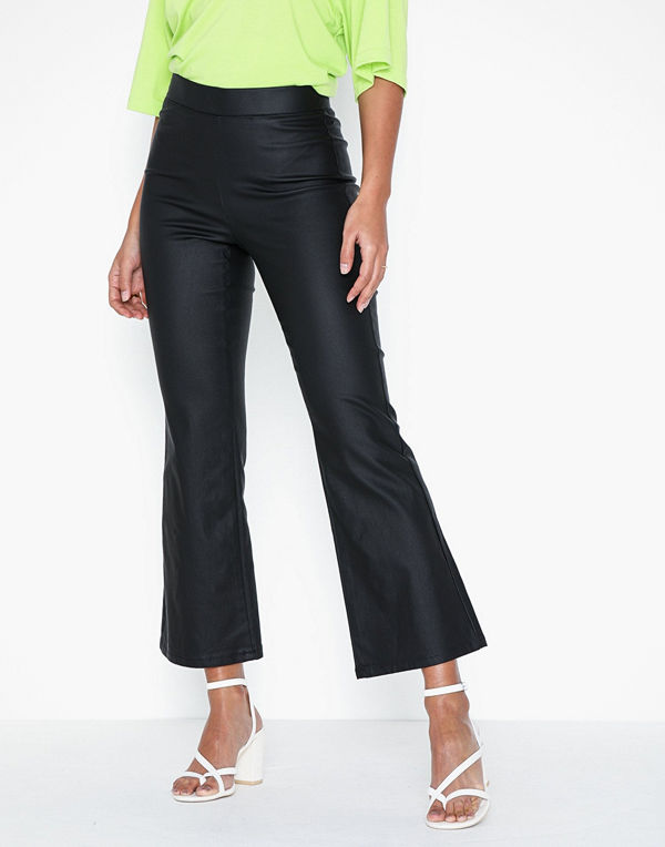Vila Vicommit Coated Hwsl Cropped Pant/L