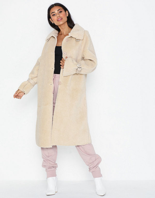 Missguided Long Line Borg Coat
