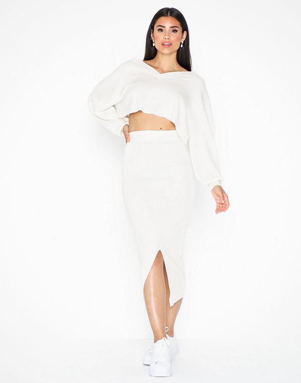 Missguided Tie Split Midi Skirt Co Ord