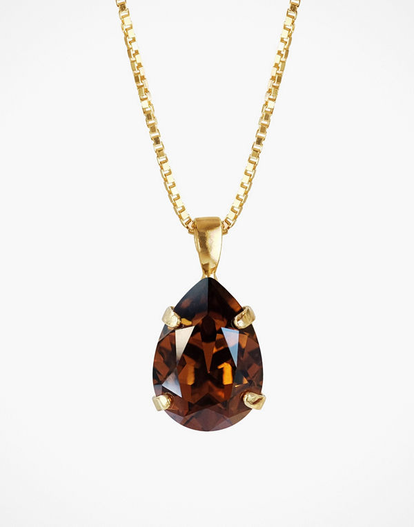 Caroline Svedbom halsband Mini Drop Necklace Topaz