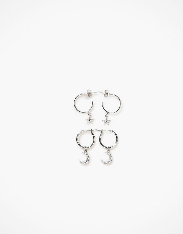 Pieces örhängen Pcamoona Hoop Earrings 2-Pack D2D