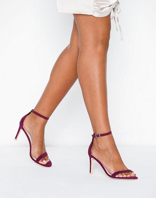 NLY Shoes Heel Sandal Lila