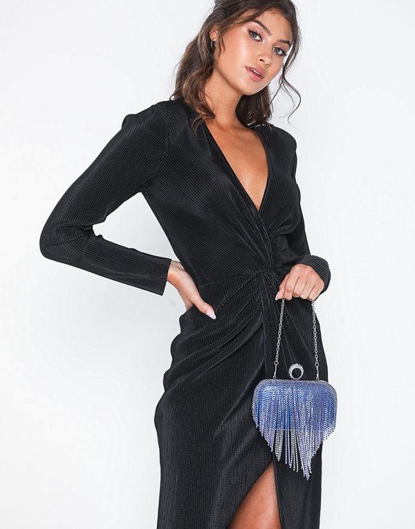 NLY Accessories blå kuvertväska Bling Ring Bag