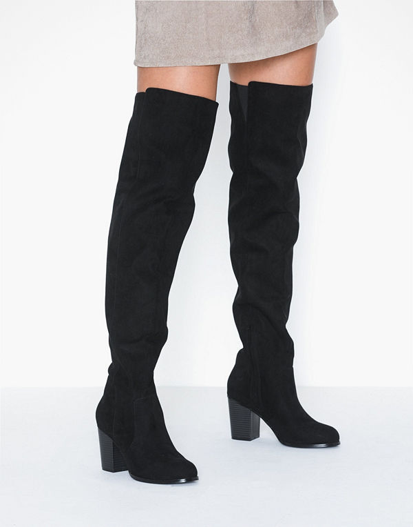 NLY Shoes Thigh High Wood Heel