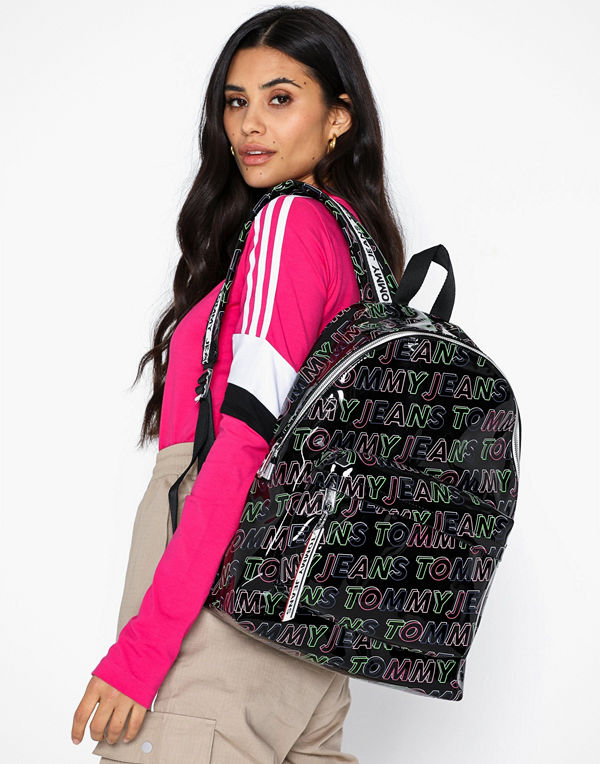 Tommy Jeans mönstrad ryggsäck Tjw Logo Tape Backpack Pu Pt