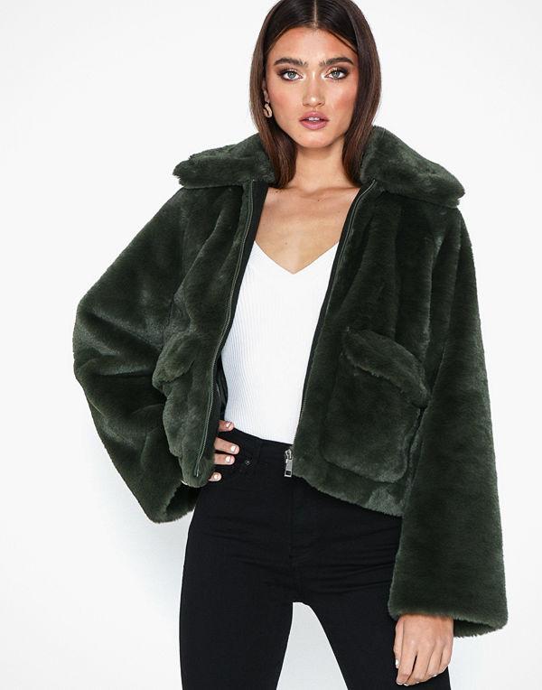 Selected Femme Slftrina Faux Fur Jacket