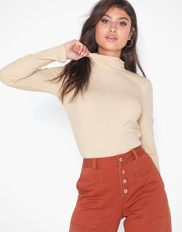NLY Trend Light Rib Polo Top