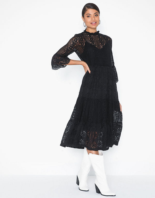 Vero Moda Vmmary 3/4 Calf Lace Dress SB2