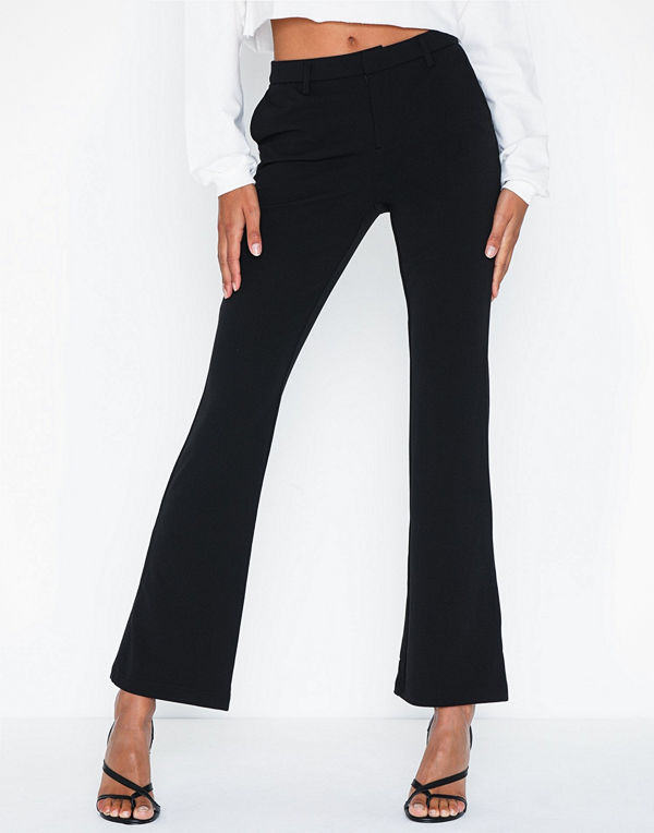 Only svarta byxor Onlrocky Mid Flared Pant Pnt Noos