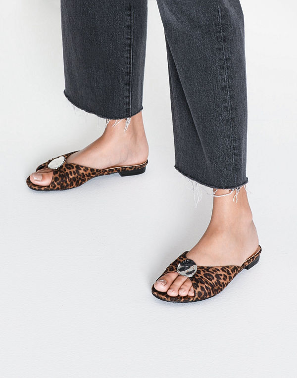 Duffy Faux Suede Slip-In Sandal
