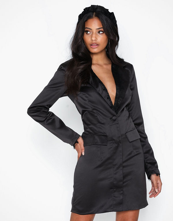 Missguided Lace Front Blazer Dress