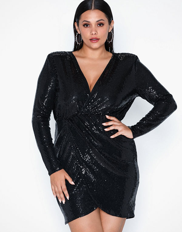 NLY One Wrap Sequin Dress