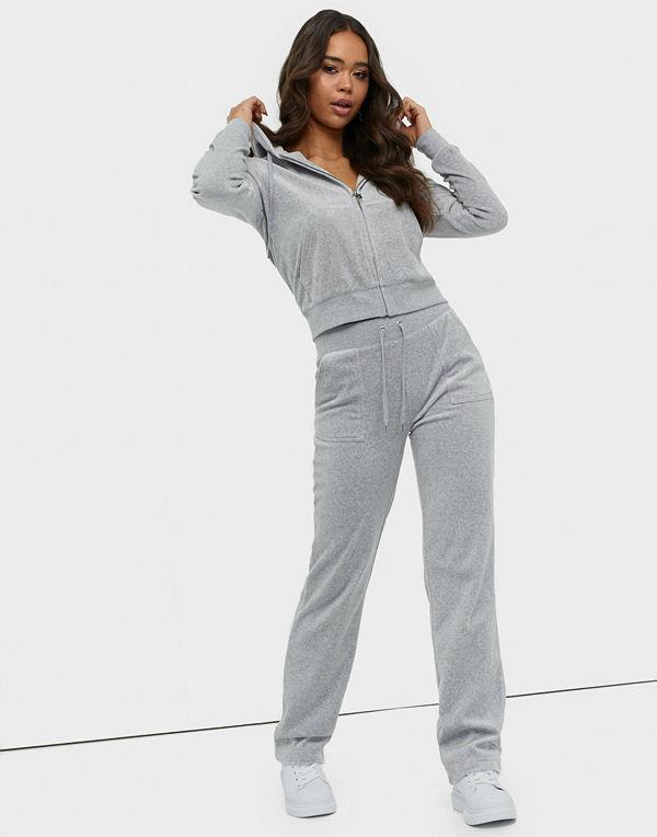 Juicy Couture ljusgrå byxor Del Ray Classic Velour Pant