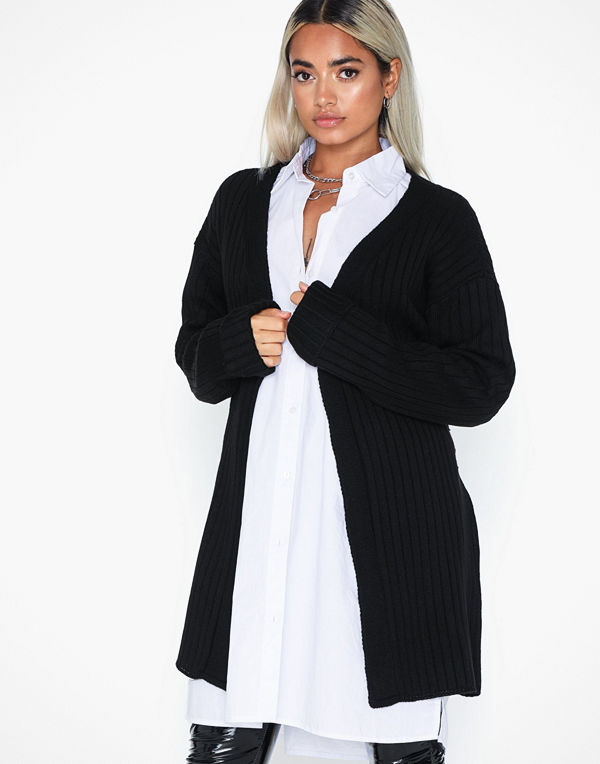 Missguided Extreme Rib Belted Cardigan