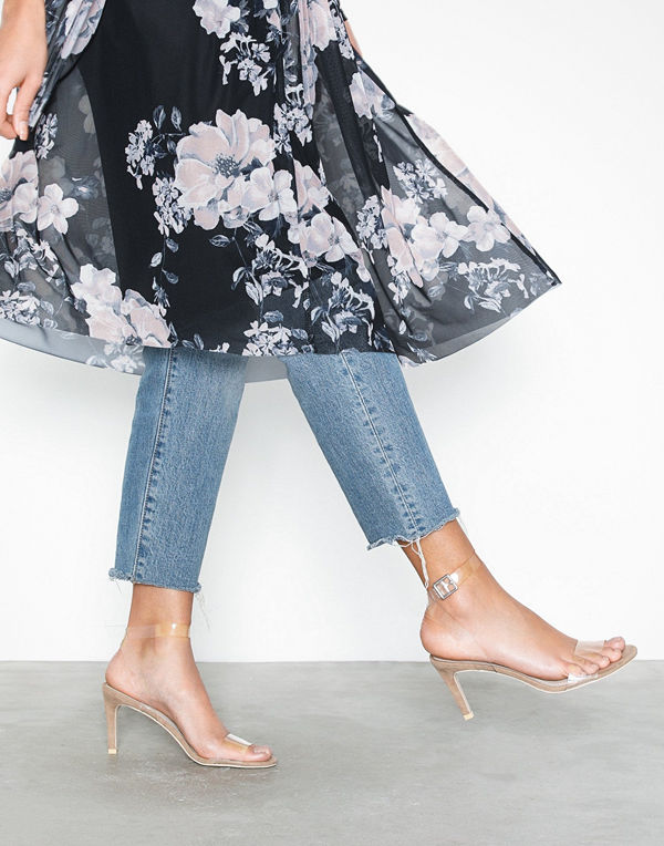 NLY Shoes Transparent Strap Heel