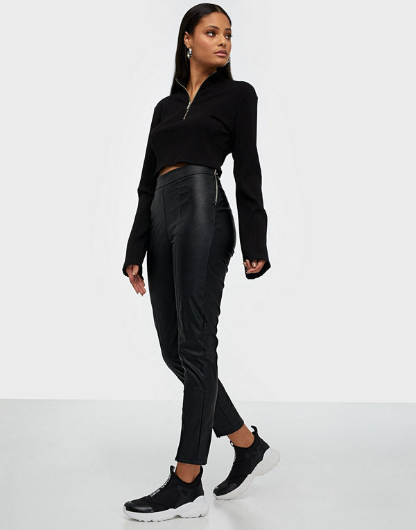 Parisian PU Split Front Zip Trouser