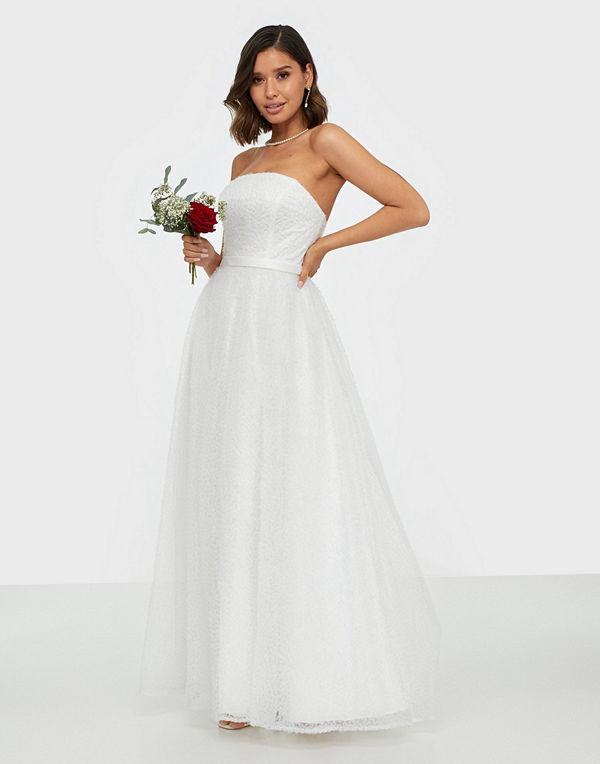 Maya Textured Bandeau Bridal Maxi Dress