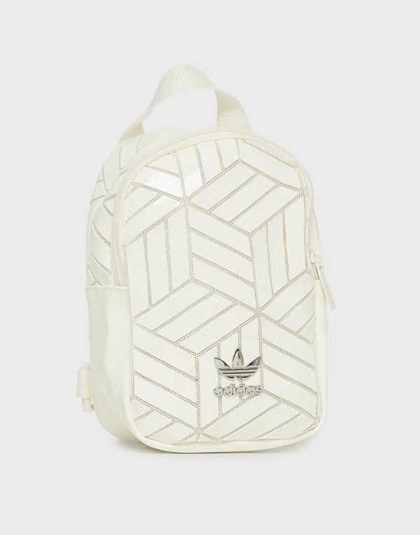 Adidas Originals vit mönstrad ryggsäck Bp Mini 3D