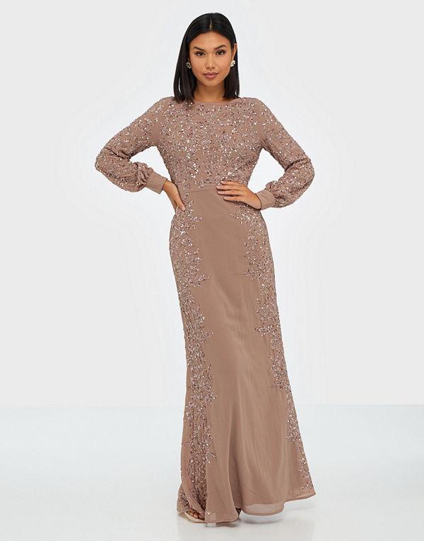 Maya Blossom Embellished Long Sleeve Maxi Dress