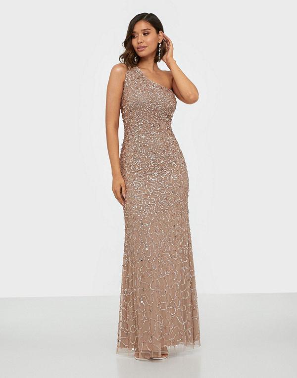 Maya All Over Sequin One Shoulder Maxi Dress