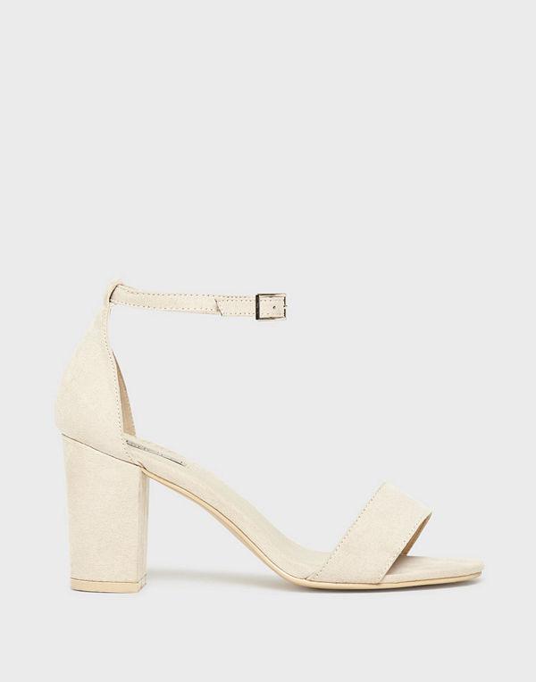 NLY Shoes Block Mid Heel Sandal Beige